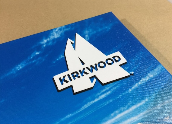 KIRKWOOD SKI MAP Gallery Wrapped Canvas Giclee