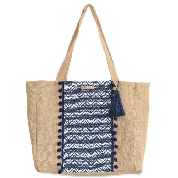 Articles similaires grand sac cabas en jacquard et toile for Toile de plage ikea