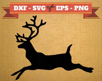 Reindeer SVG - deer svg - reindeer svg file - christmas svg file - santa svg - xmas svg - santas reindeer - christmas cut file -reindeer dxf