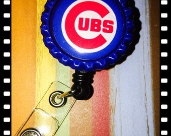 Retractable Chicago Cubs Name Badge Pull Holder Reel Lanyard
