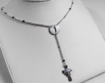 Corsica & Onyx Rosary necklace