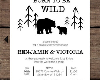Born to Be WILD Shower Invitations