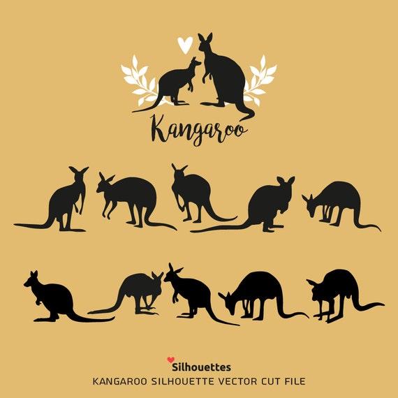 Svg Kangaroo Silhouettes Eps Svg Dxf Jpg Png Paper