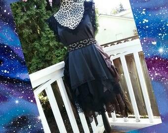 Dark gypsy dress.