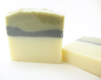 Sweet Basil, Fir Needle and Cedarwood Essential Oils, Woodsy Soap, Activated Charcoal, Handcrafted Soap, Cold Process