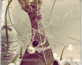 Silver Plated - Spider, Web