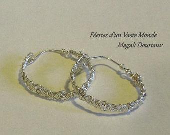 Creoles silver braid