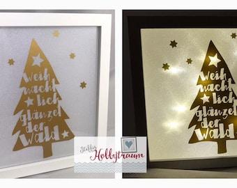 Bright-line frame, Christmas, present, gift, Christmas gift