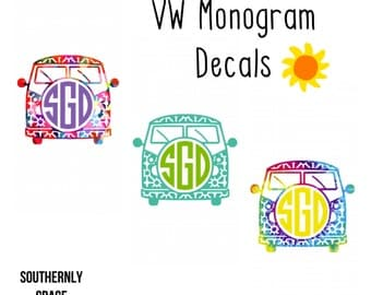 Free Sh | Volkswagon Monogram | VW Monogram | Hippie Monogram