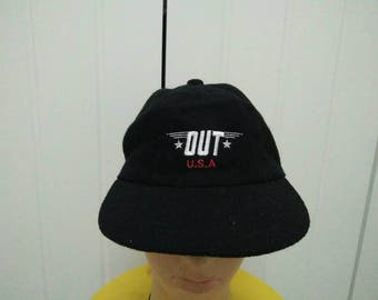Rare Vintage OUT USA Cap Hat Free size fit all