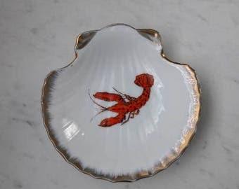 Vintage Lobster Trinket Dish