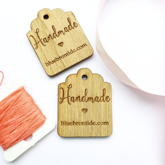 handmade craft tags craft labels wooden tags wooden labels