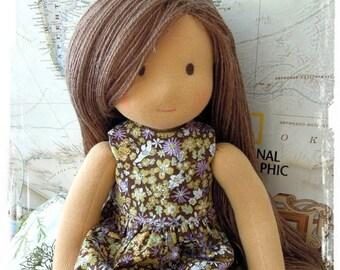 "waldorf doll Viola  16"",  Birthday Gift, Holiday Gift, Christmas Gift - Rag doll - Textile doll"