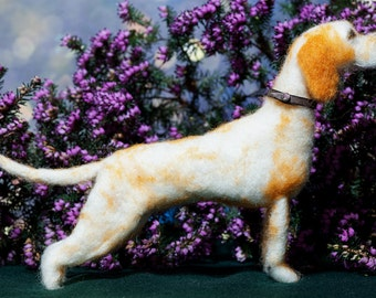 OOAK Needle Felted Pointer