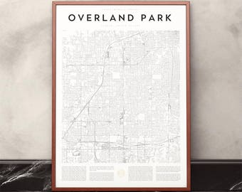 Overland Park Map Print