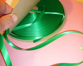 Ribbon Green Spool Emerald Green Gift Wrapping Craft Supplies