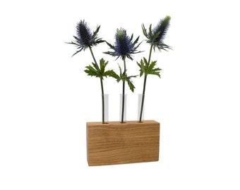 Minimalist flower vase | Vase from wood - Acacia | Dekovase - made in Germany