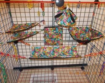 GARDEN FLOWERS Sugar Glider 6 pc cage set