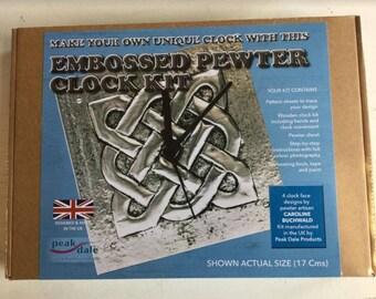 Embossed Pewter Clock Kit