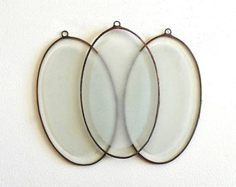 vintage etched glass oval frames crafting frames copper brass framed soldered edge frames