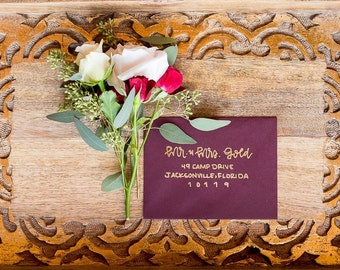 Custom Envelopes- Hand Lettering and Calligraphy- for Wedding, Shower & Other Events