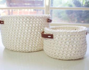 Crochet baskets | Pair