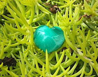 Malachite Heart-Puffy Heart