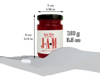 Rosé Wine JAM spread with a hint of raspberry  100g. Homemade Jam. Valentine's Day Gift. Unique Birthday Gift. Unique gift. Gift for friend.