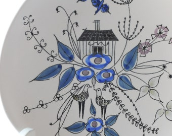 Inger Waage design for Stavangerflint. Vintage plate. Opaque. Scandinavian modern - made in Norway
