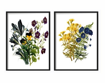 Botanical Prints - Wildflowers - Wall Art - Wall Hanging - Prints - Farmhouse Decor - Home Decor - Gift for her - Best Friend Gift - Boho