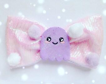 Kawaii Halloween Ghost Bow, Pastel Goth, Fairy Kei, Creepy, Cute, Harajuku etc inspired