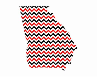 Red and Black and White Chevron Pattern Craft Vinyl. UV Laminated. Various Sizes Available.