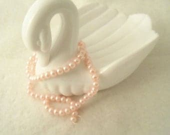 6 mm Glass Pearls, Light Pink  (1502)