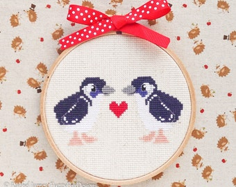 Fairy Penguins Cross Stitch Pattern PDF | Cute Little Bird | Easy | Modern | Beginners Counted Cross Stitch | Instant Download