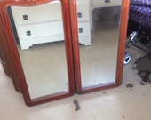 Pair of Edwardian Art nouveau style mirrors 65