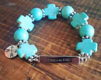 Turquoise Rock Dream Big Bracelet