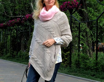Gift|for|her women poncho knit poncho girls poncho crochet poncho cape plus size poncho scarf gift for pregnant women 50th anniversary gifts
