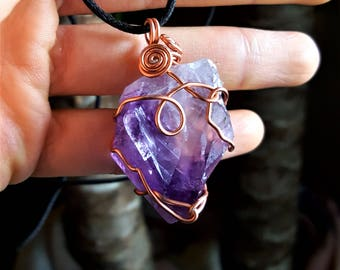 Copper Wrapped Amethyst