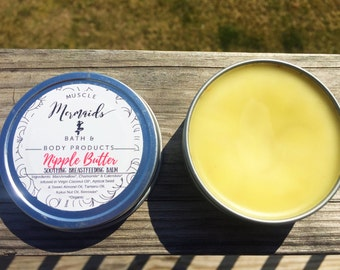 Nipple Butter - Soothing Breastfeeding Balm - Healing Calendula Nipple Salve 1/2 oz or 2 oz - Lanolin Free