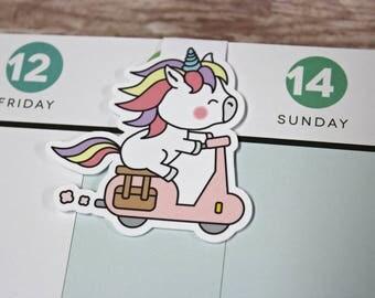 Unicorn Bookmark - Magnetic Planner Bookmark - Planner Clip - Unicorn Planner Clip - Magnetic Unicorn Bookmark - Unicorn Scoot Planner Clip