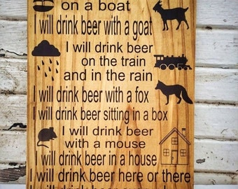Beer, Beer Sign, Beer Gifts, Funny Gift, Gift for Boyfriend, Gift for Husband, Gift for Brother, Fathers Day Gift, I'll drink beer anywhere