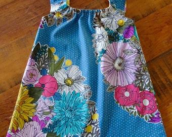 Sundress, Summer Dress, Flutter Sleeve Dress, Floral Print Dress, Organic Cotton Frock, Summer Fashion, Girls Dress, Girls Gift, Party Dress
