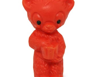 Vintage Plastic Toy Bear