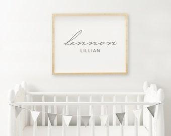 Custom Baby Name Print | Baby Name Print | Modern Nursery Art | Digital File
