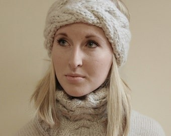 KNITTING PATTERN - Dannielle Knit Headband & Cowl Pattern (Child, Young Adult, Adult Sizes)