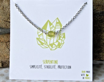 Serpentine necklace stainless steel