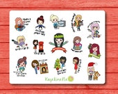 NEW The Doodle Collection - Christmas Girls Planner Stickers
