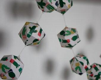 GARLAND#18 - Paper garland - Cactus pattern