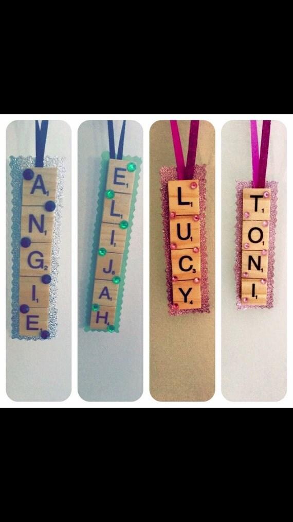 Personalised hanging scrabble decorations - wooden, unique, original, hanging dècor