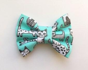 MINI Cat Bow, baby headband, baby hair clip, baby hair bow, baby girl, girl toddler, headband, hair bow, baby gift